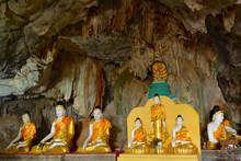 Lots Of Buddha Statues In Bayin Nyi (Begyinni) Cave Near Hpa-An, Myanmar