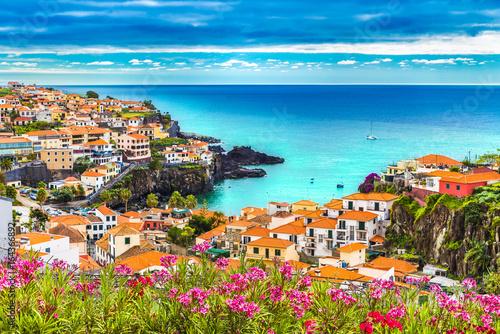 Obraz na plátně  Panoramic view over Camara de Lobos, Madeira island, Portugal