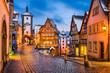 Leinwanddruck Bild - Rothenburg ob der Tauber, Bayern, Deutschland
