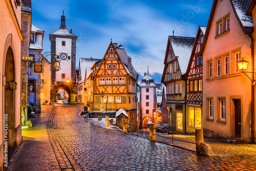 Photo Rothenburg ob der Tauber, Bayern, Deutschland