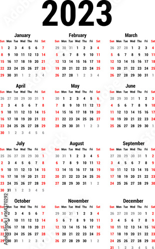 Fotografia  Calendar for 2023