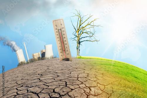 Obraz na plátně hitzewelle - klimawandel.