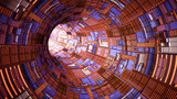 Fototapeta Fototapety przestrzenne i panoramiczne - abstract technology tunnel with light at the end