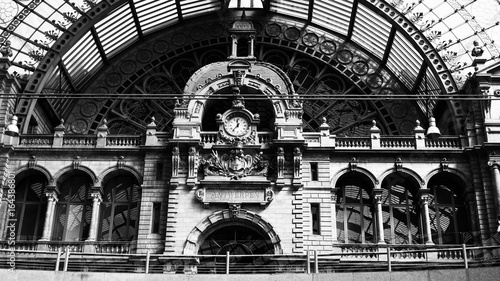 Foto op Canvas Treinstation The train station in Antwerp.