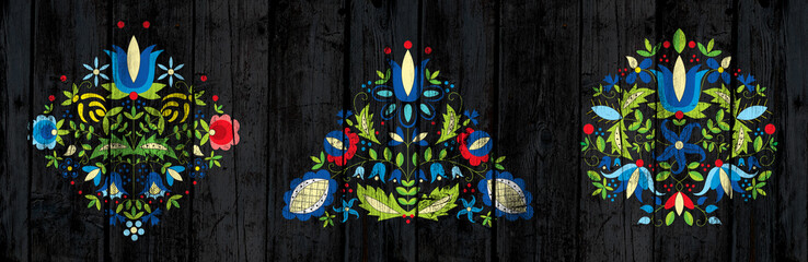 ozdobnik kaszubski czarne deski