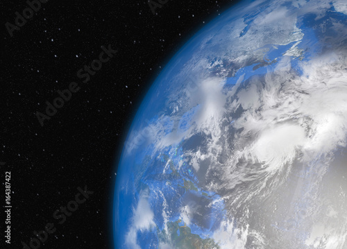 Fototapety, obrazy: Earth in space. Elements of this Image Furnished by NASA