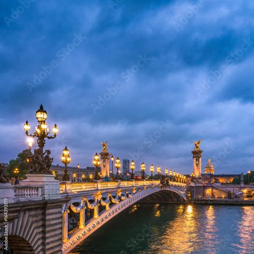 Obraz na dibondzie (fotoboard) Pont Alexandre III w Paryżu, Francja