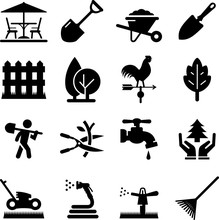 Landscaping Icons - Black Series