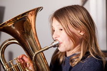 Girl Playing Baritone
