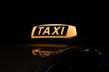 Taxi Sign Illuminated, Taxi Si...