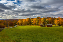 Vermont Farm In Fall