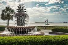 Charleston South Carolina Pineapple Park Fountain