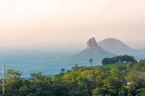 Mount Coonowrin of Glass House Mountains