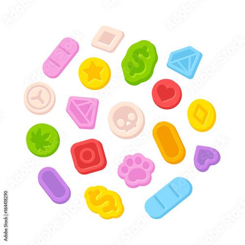 Foto Ecstasy MDMA pills