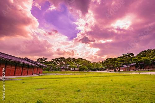 Sunset in Changgyeonggung Palace. Poster