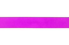 Violet Ribbon Isolated On A White Background, Closeup