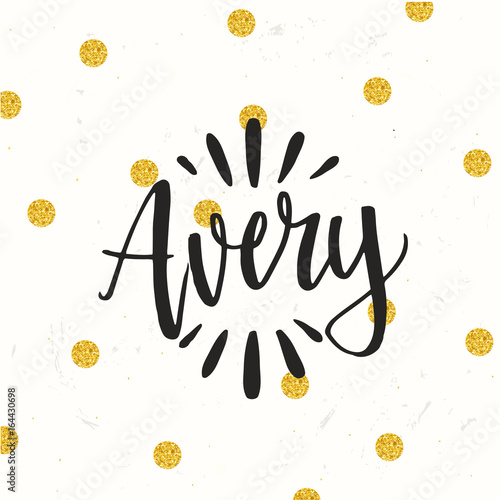 hand drawn calligraphy personal name lettering avery buy this