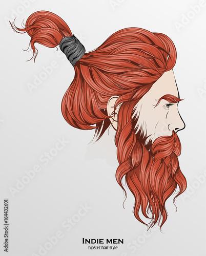 Obraz na płótnie Hipsterska fryzura rodem z Indii