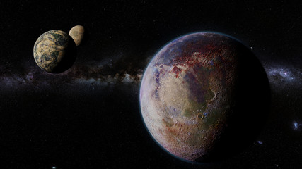 exoplanet, exomoons and the Milky Way galaxy