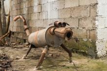 Strange Dog Sculpture Made Of ...