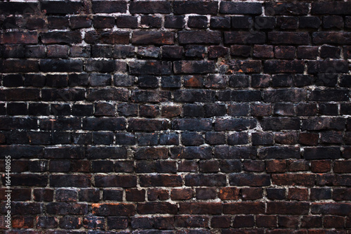 Tela  background black walls, dark brick texture for design