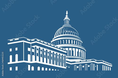 Fotografia, Obraz United States Capitol building icon in Washington DC