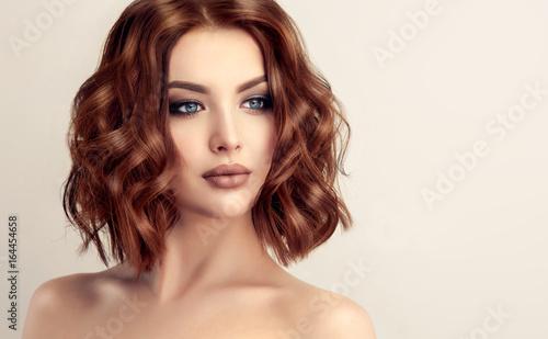 Beautiful model girl with short hair Canvas-taulu