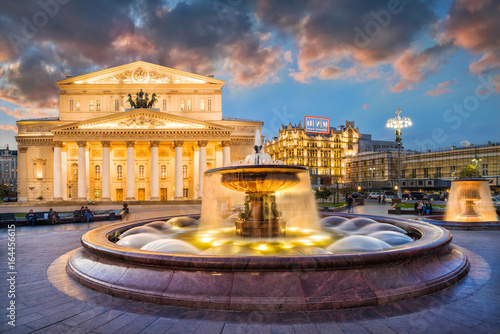 Большой театр и фонтаны The Bolshoi Theater and fountains Wallpaper Mural