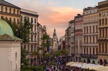 People Goes By Grodzka Street ...