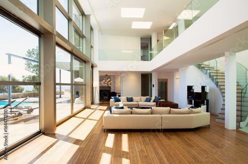 Obraz Beautiful living room - fototapety do salonu