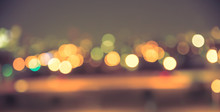 Defocused Blur Of City Lights ...