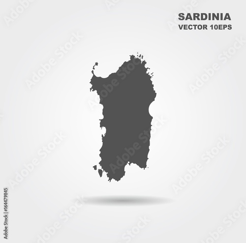 Cuadros en Lienzo Map Of Sardinia. Italy. Vector illustration
