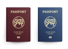 Passport With Map. Asia. Reali...