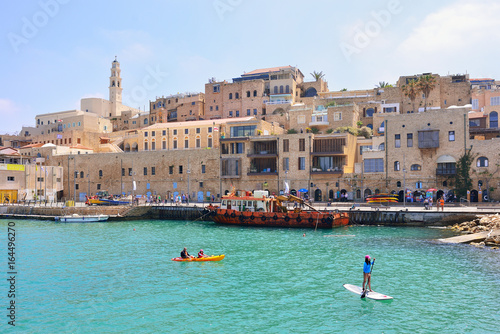 Old town and port of Jaffa of Tel Aviv city, Israel.