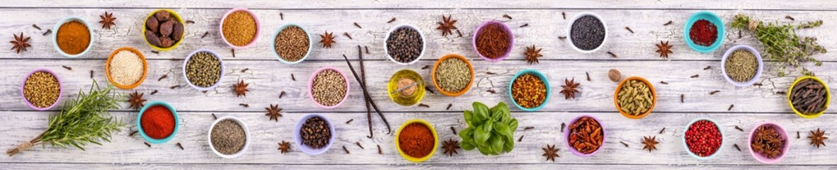 Fototapeta Do gastronomi spices panoramic