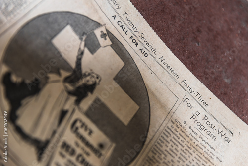 Poster  World War Two Newspaper from 1943