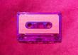 canvas print picture Purple Cassette Tape