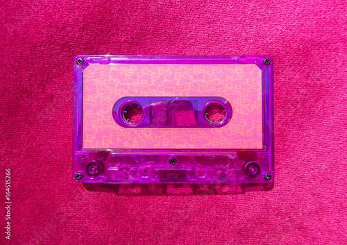 Purple Cassette Tape Canvas Print