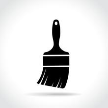 Paintbrush Icon On White Backg...