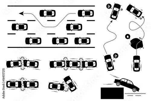 Fotografia, Obraz  Car Accident and Reckless Driving