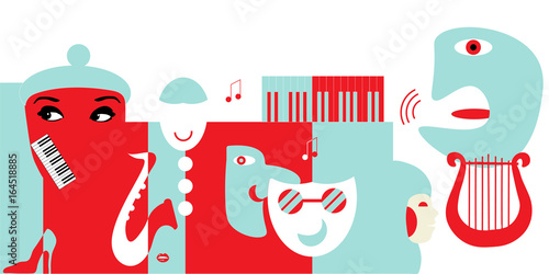 Fotografía  Abstract artwork for classical music concert or theater