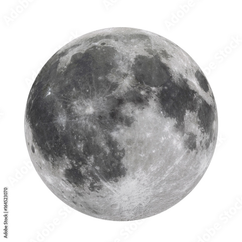 Full Moon Isolated  (Elements of this image furnished by NASA) Canvas Print