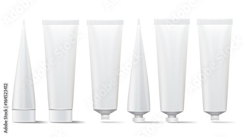 Leinwand Poster Cosmetic Tube Set