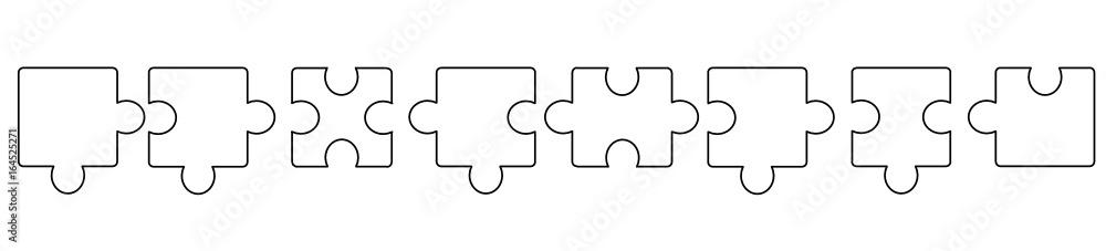 Fototapeta puzzle band banner hintergrund weiß leer