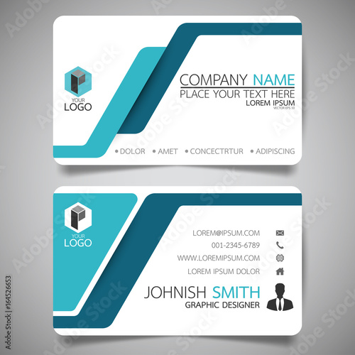 Blue modern creative business card and name cardhorizontal simple blue modern creative business card and name cardhorizontal simple clean template vector design reheart Image collections