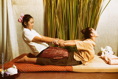 Fotografering Spa and massage : Thai massage and spa for healing and relaxation