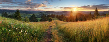 Beautiful Summer Panoramic Landscape In Mountains - Pieniny / Tatras, Slovakia