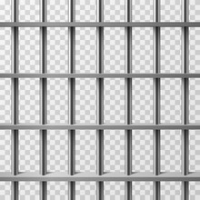 Jail Cell Bars Isolated. Prison Vector Background