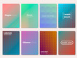 Gradient covers set. Cool halftone gradients. Futuristic design posters. Future Poster template. Vector Eps 10