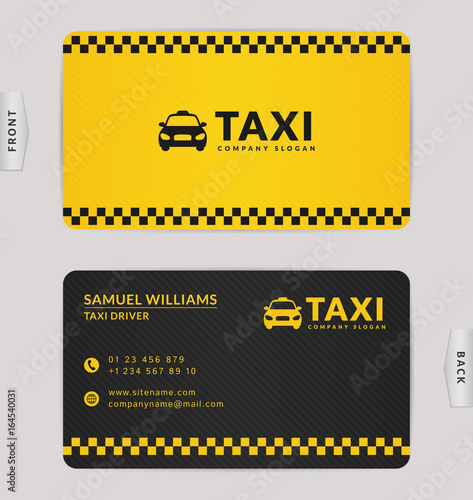 Business card for taxi company. Canvas-taulu